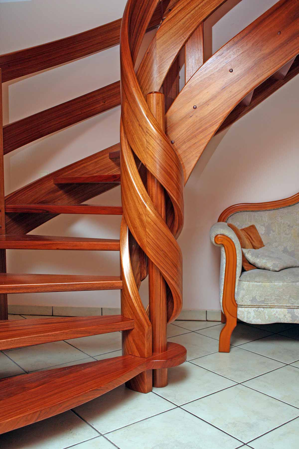 Stairs With Curved Elements No1 Delesher