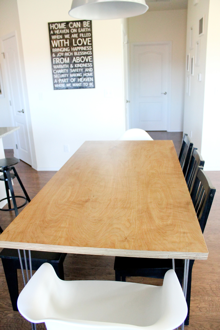 Plywood Hair Pin Leg Dining Table