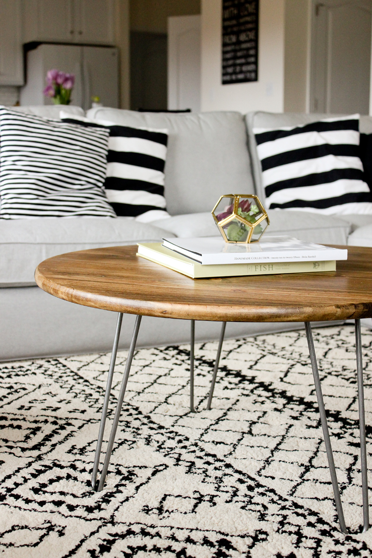 Hairpin Leg Coffee Table Tutorial