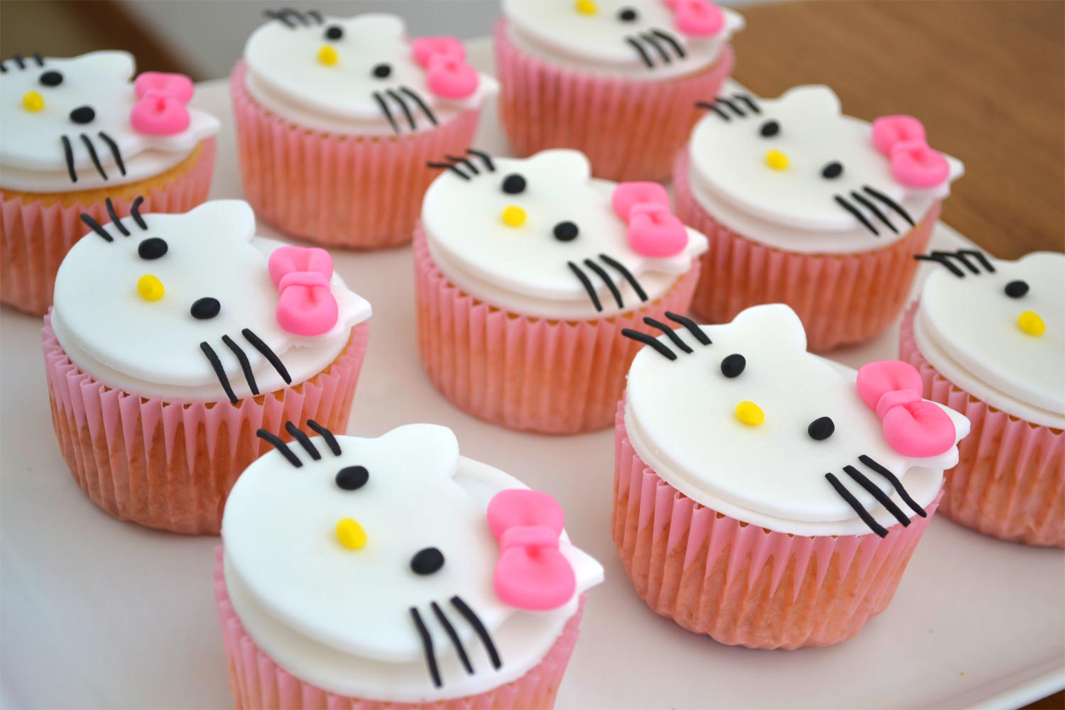 Magdalenas Decoradas Infantiles Cupcakes De Hello Kitty