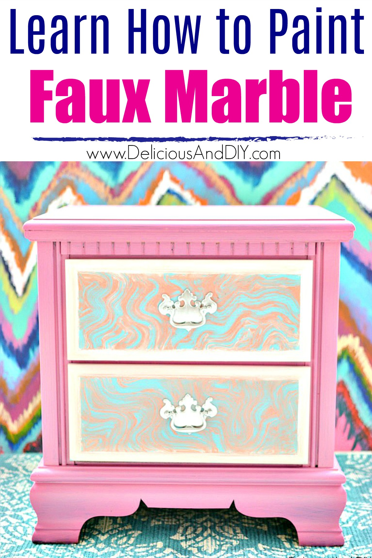Learn How To Diy Faux Marble Furniture Delicious And Diy