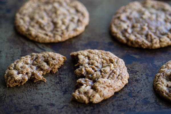 gluten free oatmeal toffee cookies