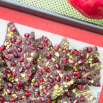 dark chocolate pomegranate pistachio bark