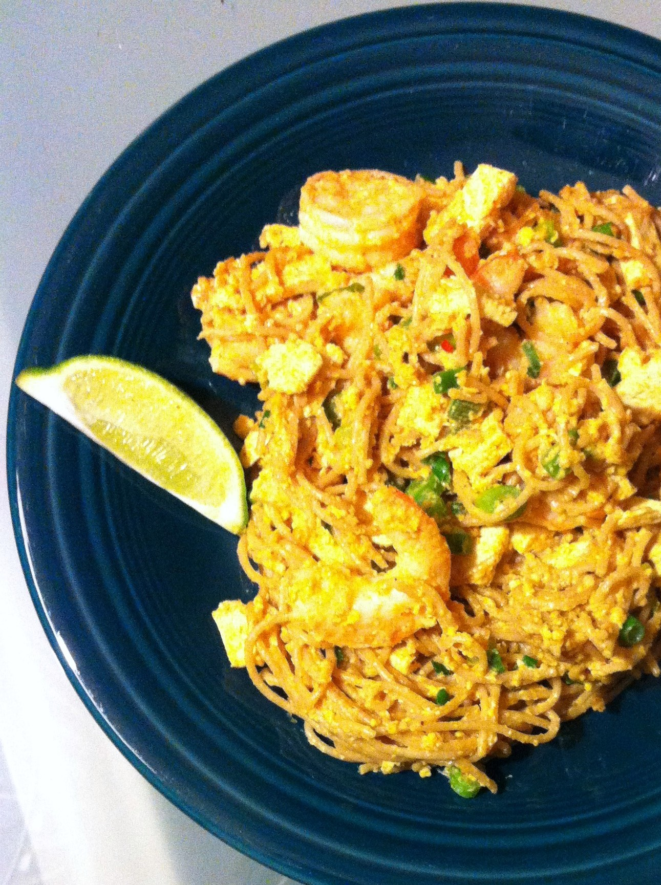 PROJECT RECIPE: Shrimp Pad Thai on the Lighter Side