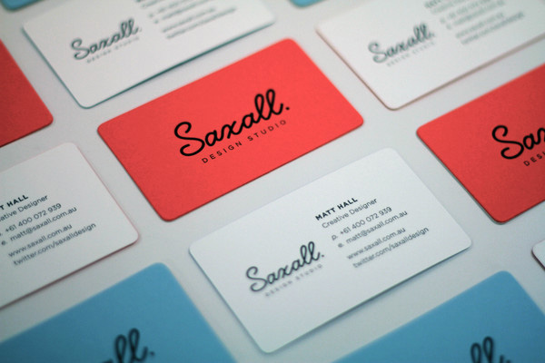 Creative Examples of Typographic Business Cards - Letterpress Business Card