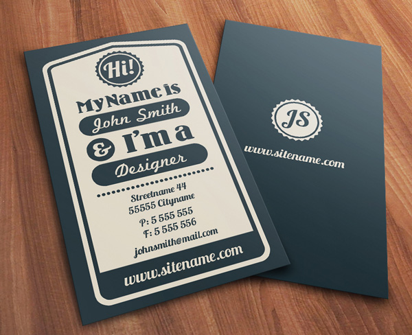 Creative Examples of Typographic Business Cards - visiting cards