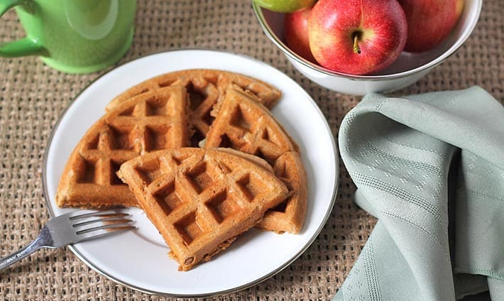 Vegan Gluten Free Apple Cinnamon Waffles
