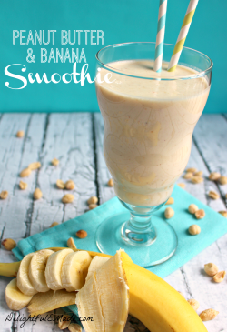 Small Of Peanut Butter Smoothie