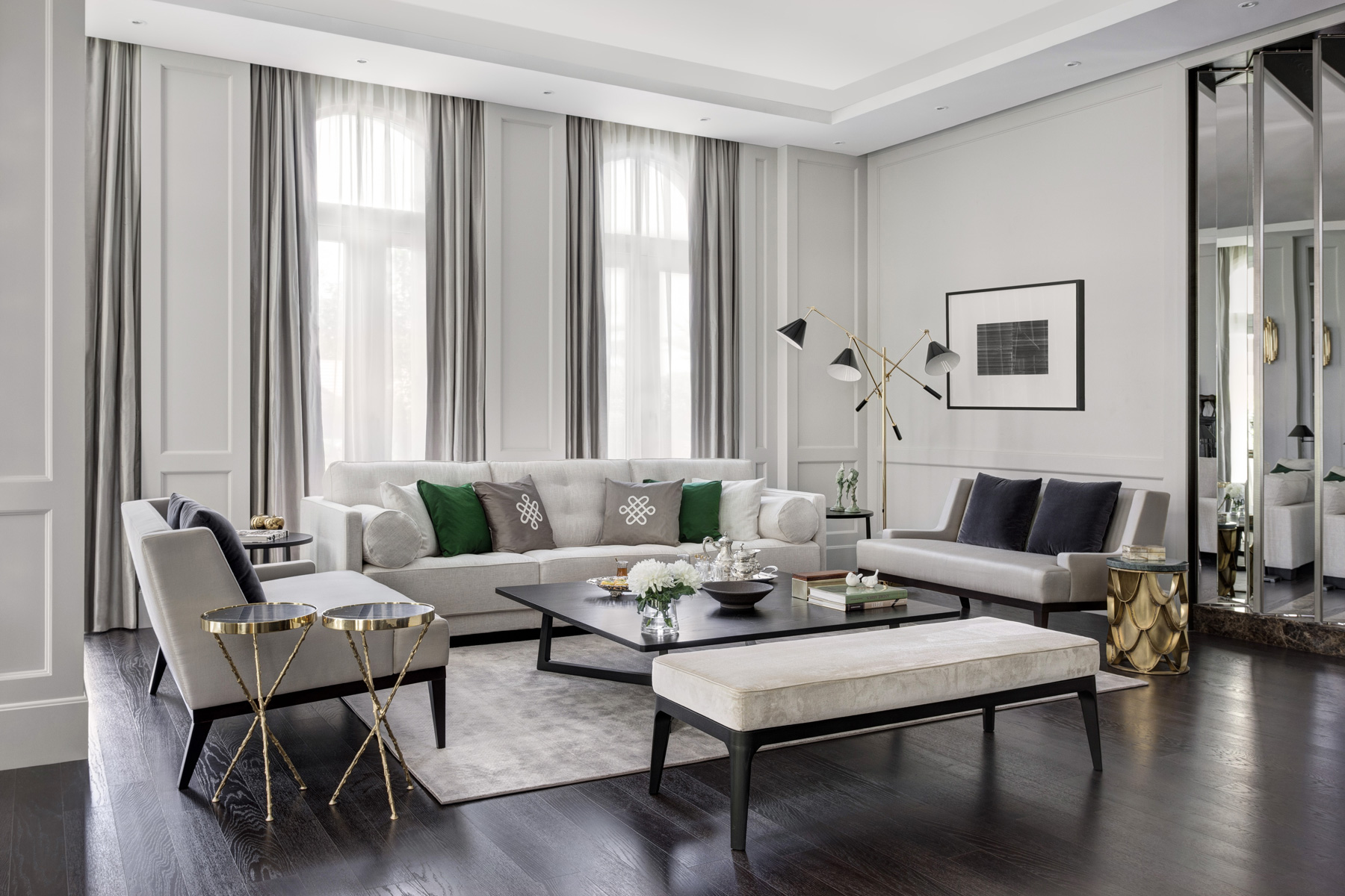 American Classic Living Room Design Room Of The Week Neutral Luxury Living Room In Dubai