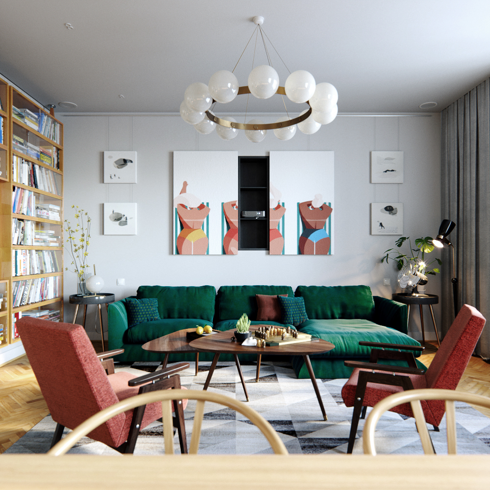 Mid Century Dream House Mid Century Style Meets Vintage In The Heart Of Ukraine