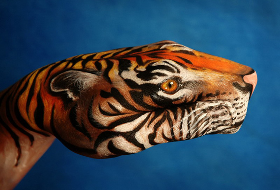 maquillaje hand painting color body painting Arte