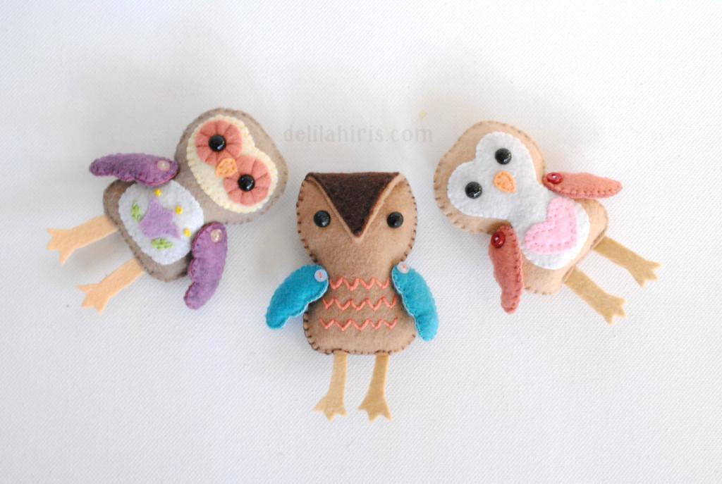 Felt Owl Pattern - Delilah Iris