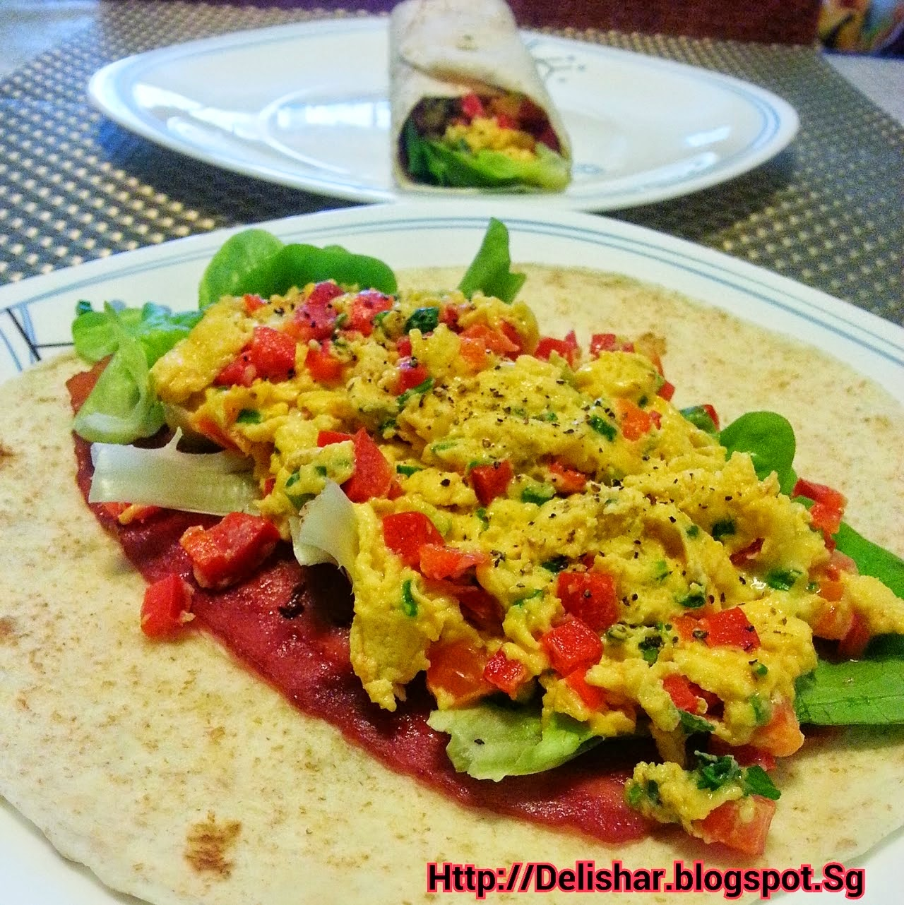 Blogspot Food Blog Breakfast Burrito Delishar Singapore Cooking Recipe
