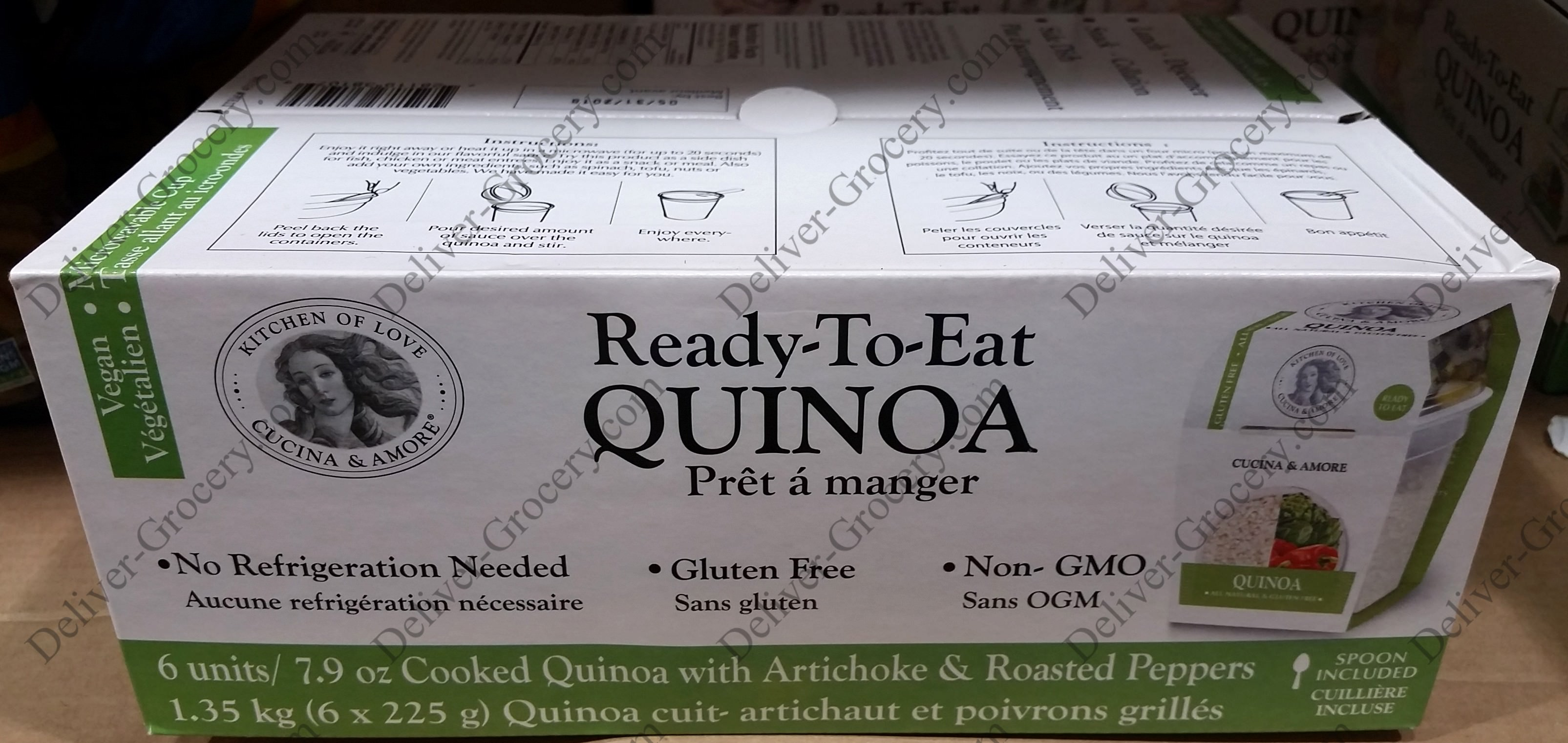 Cucina And Amore Quinoa Review Cucina Ready To Eat Quinoa 6 X 223 G Deliver Grocery Online Dg