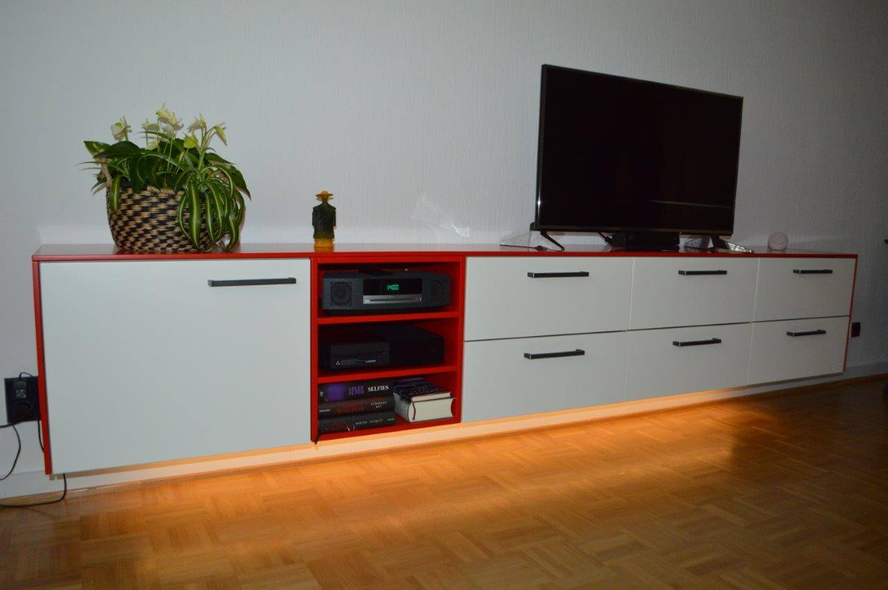 Sideboard Cremefarben Highboard Rot Hochglanz Great Kommode Geo Sideboard In