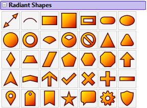 Radiant Shapes Palette