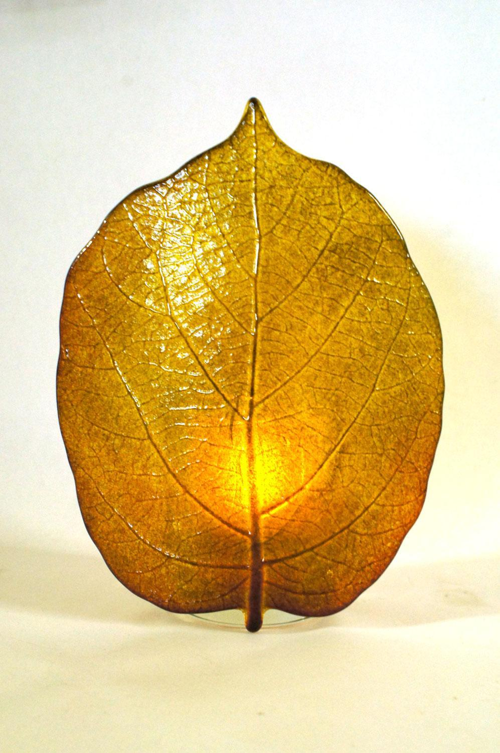 Bulleye Lamp Kiwi Leaf Casting And Slumping Mold | Glass