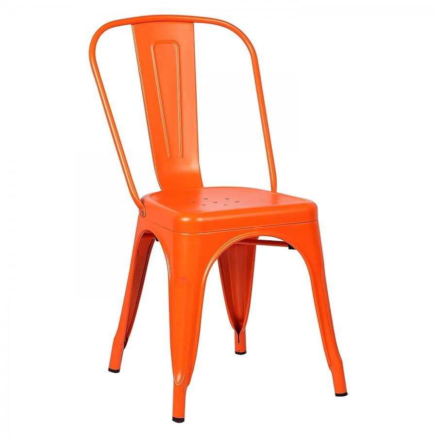 Bright Orange Tolix Style Industrial Metal Chair The Party Rentals Resource Company
