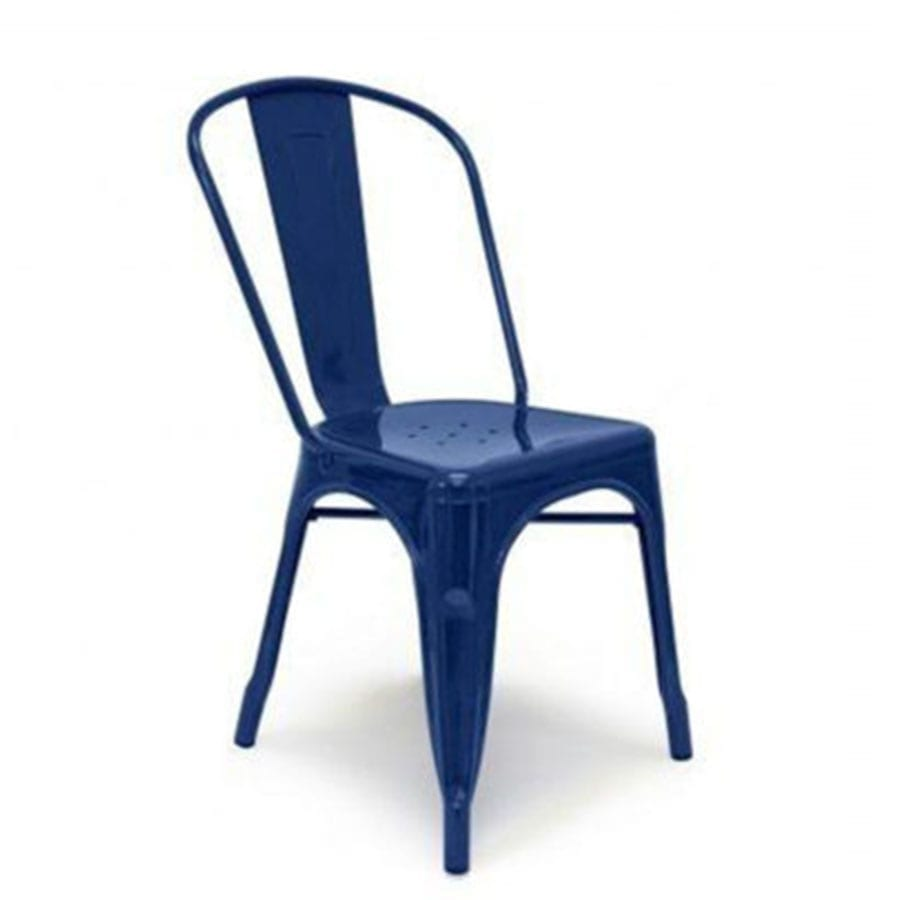 Royal Blue Tolix Style Industrial Metal Chair The Party Rentals Resource Company