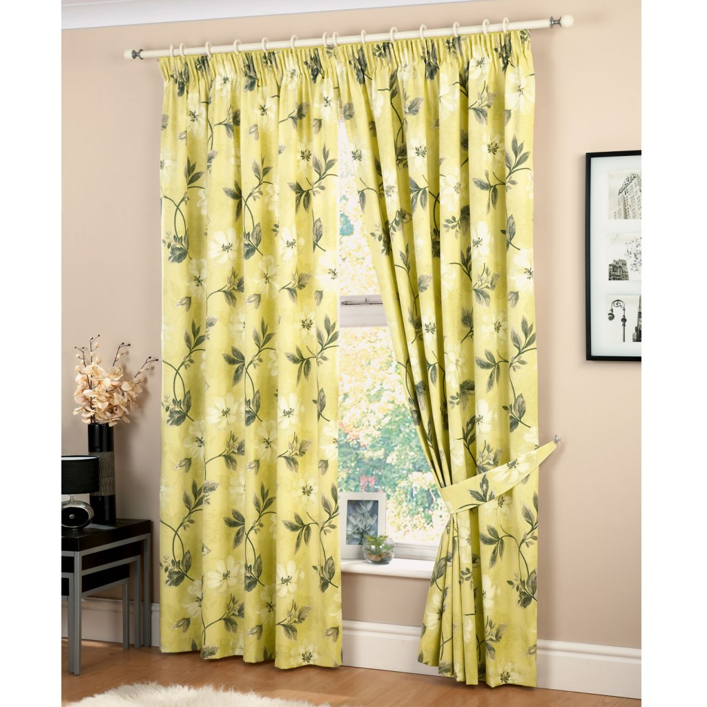 Kitchen Curtains For Yellow Walls Yellow Floral Curtains Furniture Ideas Deltaangelgroup