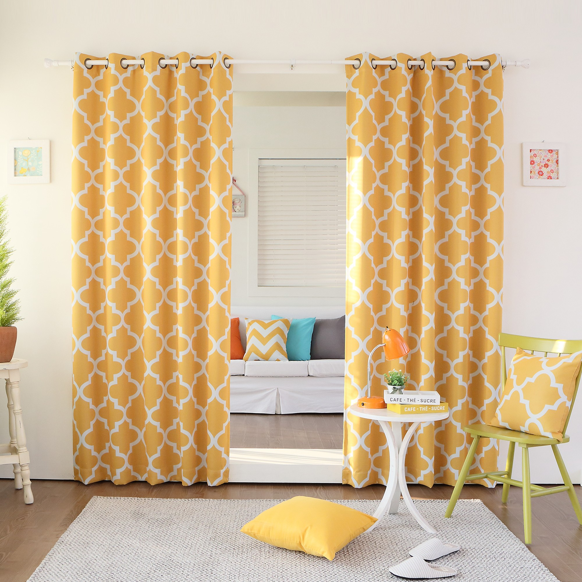 Kitchen Curtains For Yellow Walls Yellow Grommet Curtains Furniture Ideas Deltaangelgroup