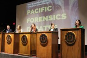 Forensic students participate in mock California Senate debate on April 25 at University of the Pacific.