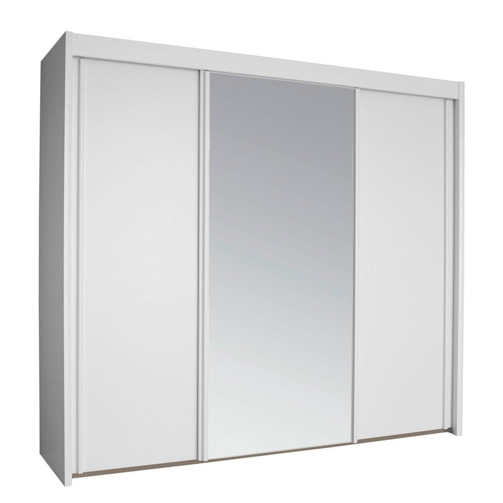 Sideboard 250 Cm Rauch Imperial 3 Door 250cm Wide Sliding Wardrobe In Alpine White