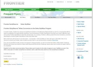 change frontier to delta skymiles