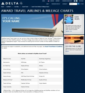 use skymiles what airlines