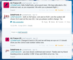 tweets with airfrance for seats