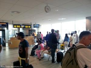 bus loading to tarmac boarding lufthansa GOT delta points blog