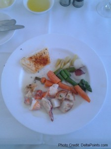 lobster main dish lufthansa 1st class ord-fra delta points blog