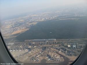 lufthansa 747-8 goaround into FRA airport delta points blog