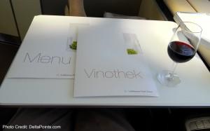 menus lufthansa 747-8 first class service delta points blog