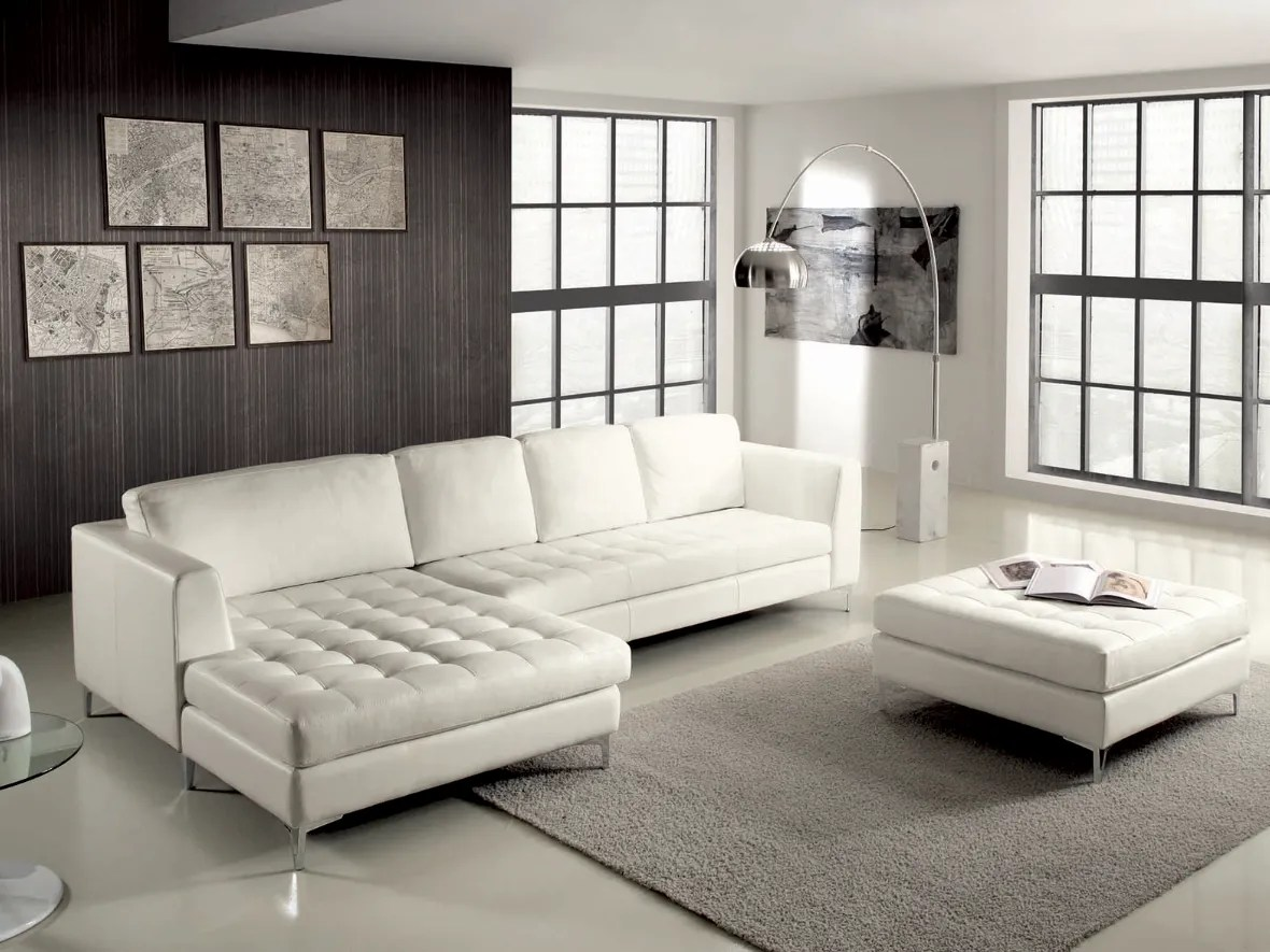 Oscar Quilted Leather Sofa