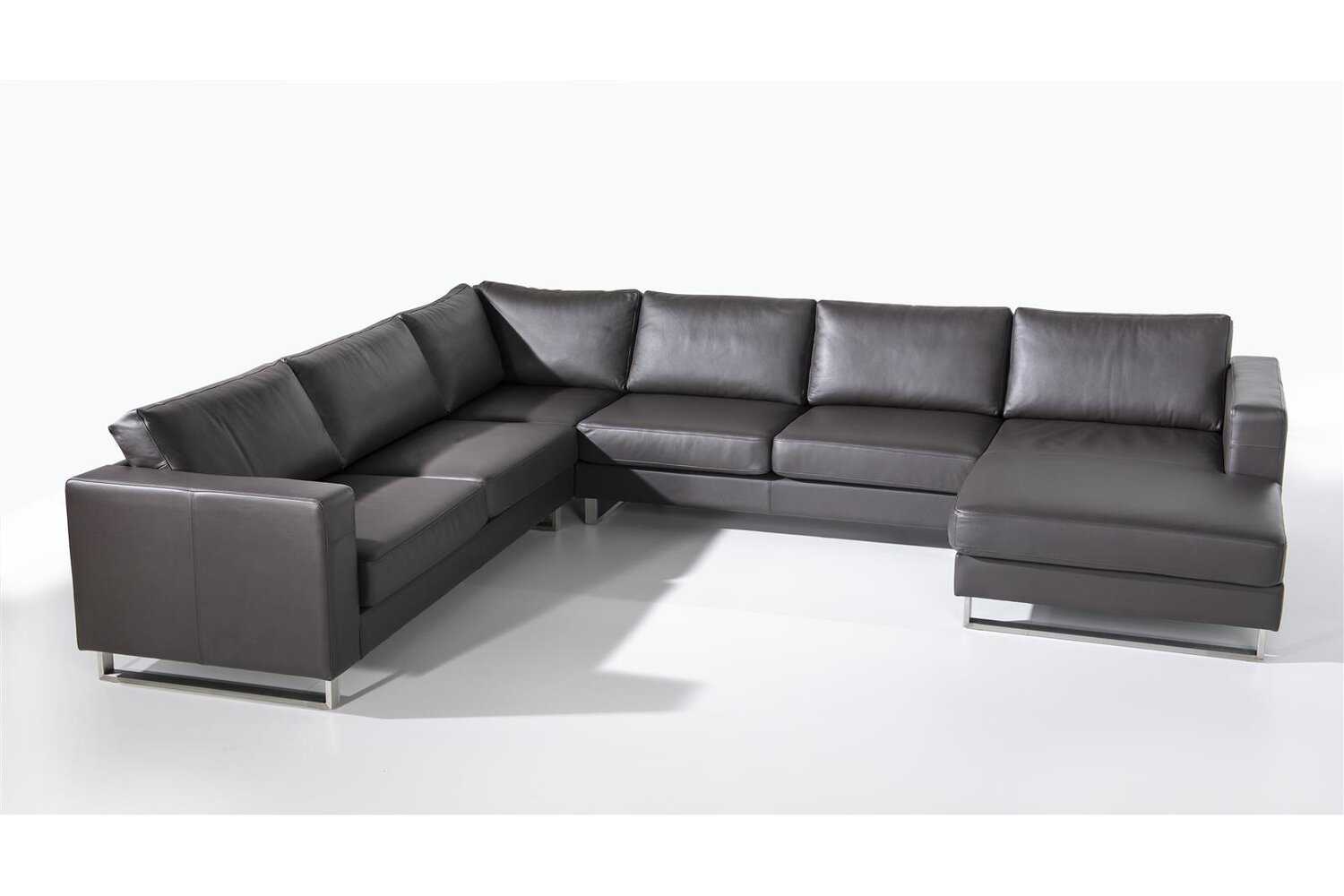 Ledercouch U Form Ledersofa Havanna U-form Gross, 5490.00 Chf