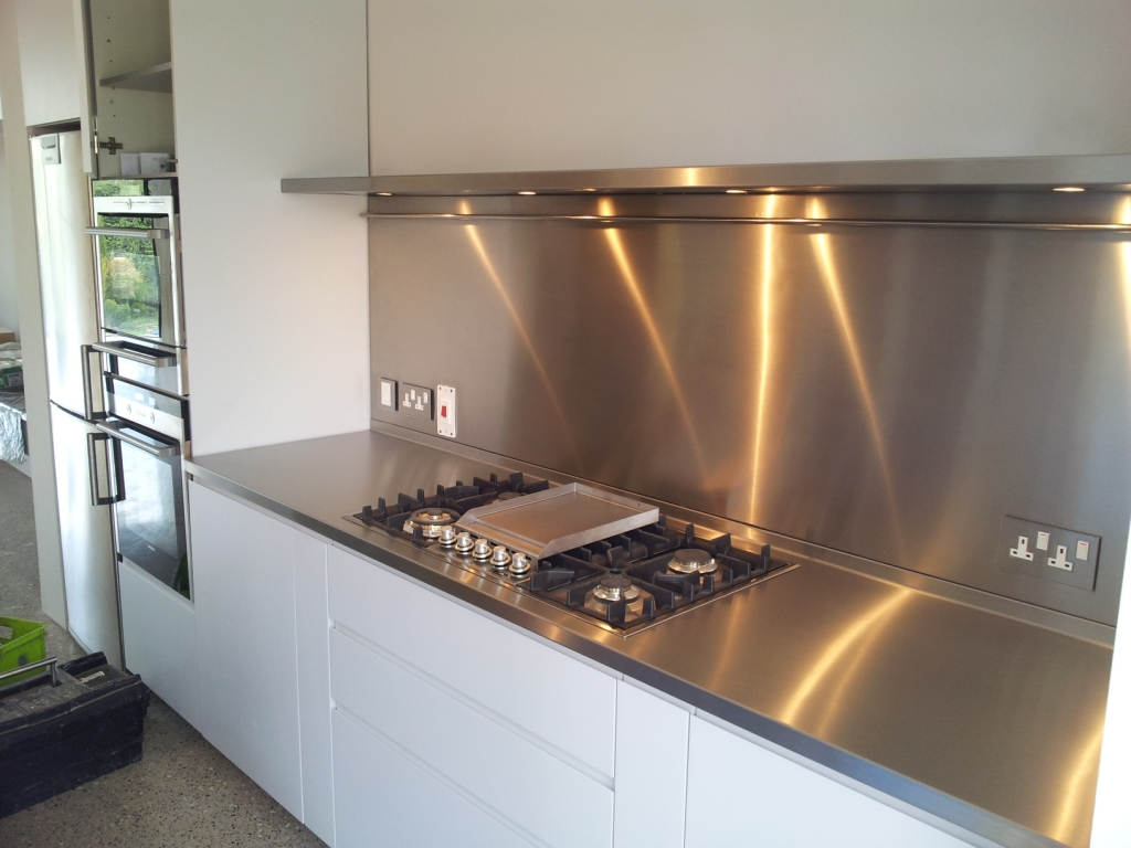 Stainless Steel Splashback Stainless Steel Splashback Delvo Steel Fabrication And Manufacturing