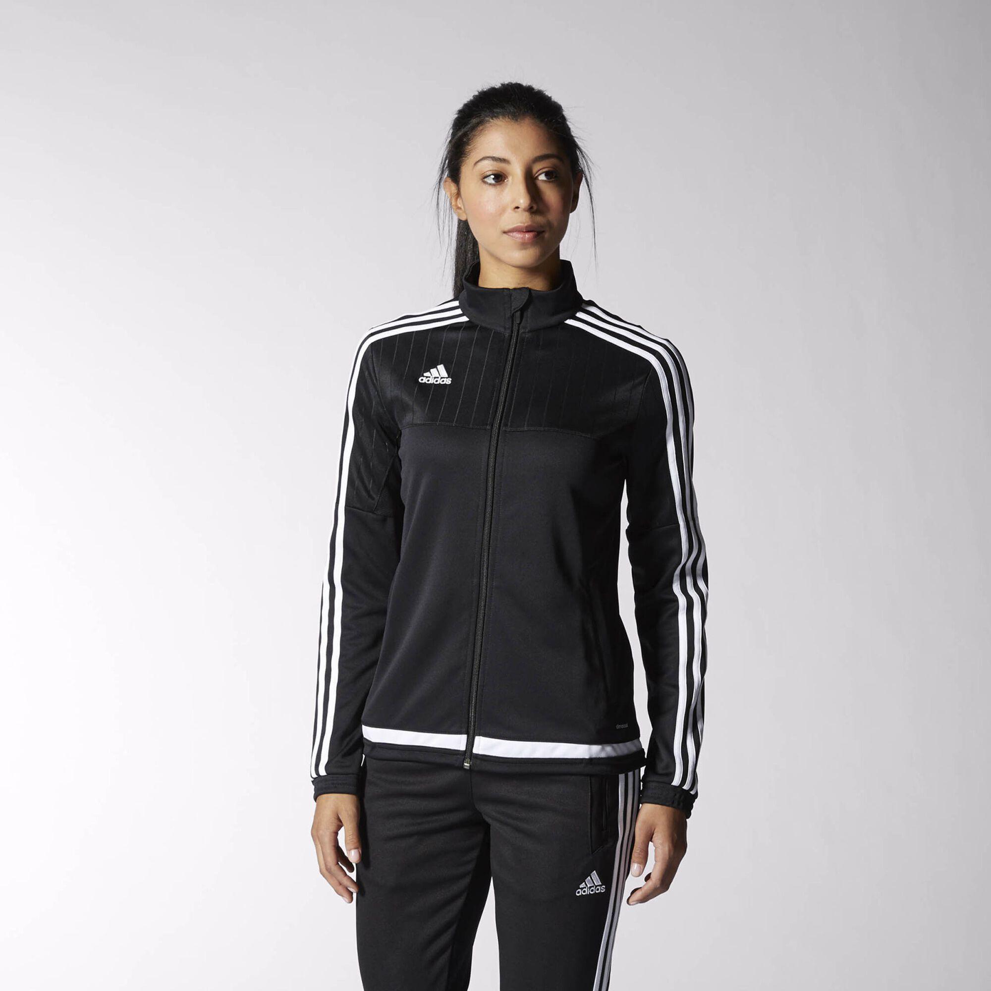 Adidas tiro 15 training jacket black white black m64058