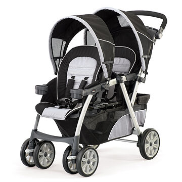 Stroller With Built In Bassinet Chicco Chicco Cortina Together Double Stroller Romantic