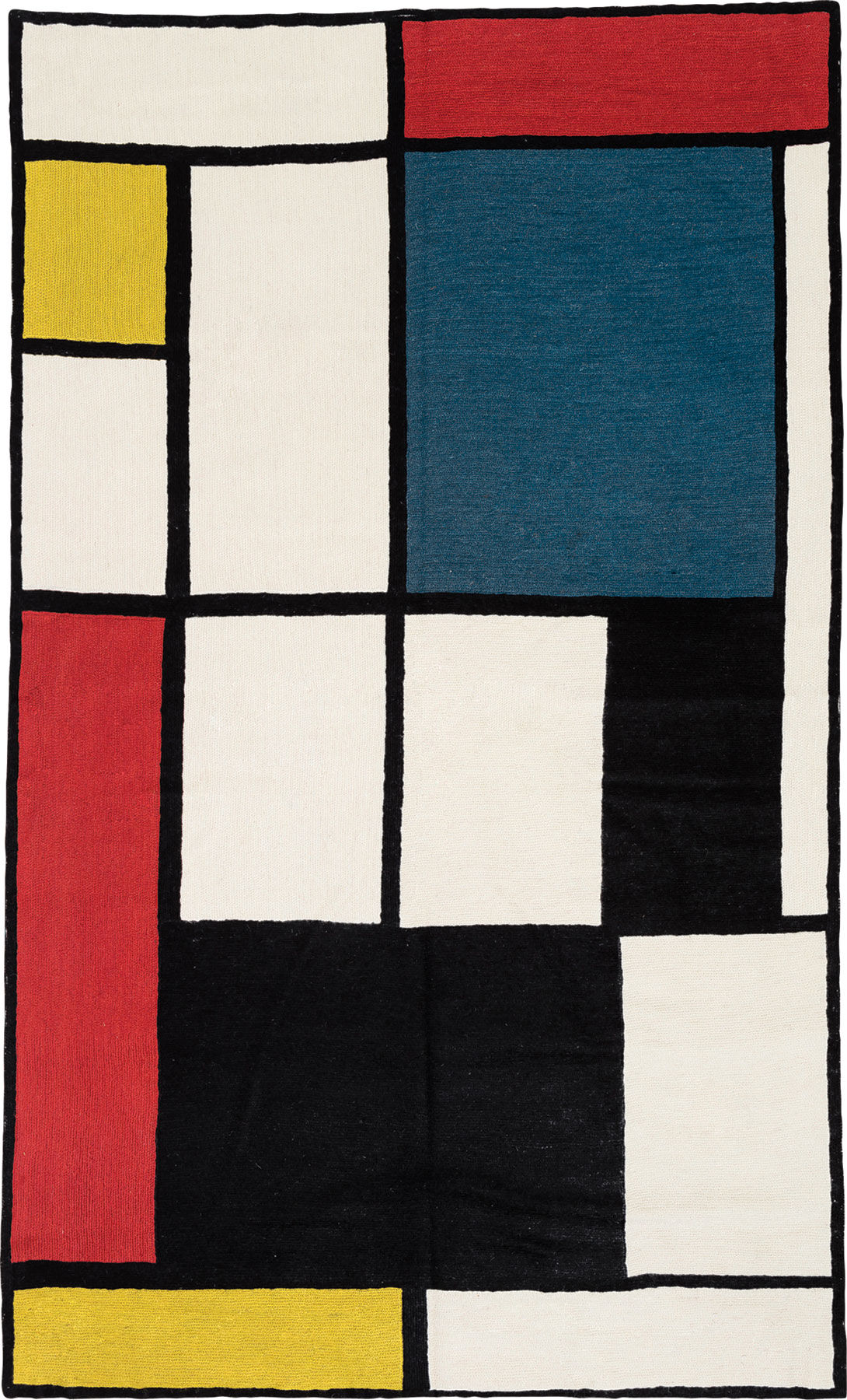 Tappeto Mondrian Carpet Quotcomposition In Red Blue And Yellow Quot Mondrian