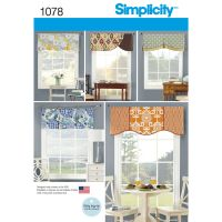 """Pattern for Valances for 39 1/2"""" Wide Windows   Simplicity"""