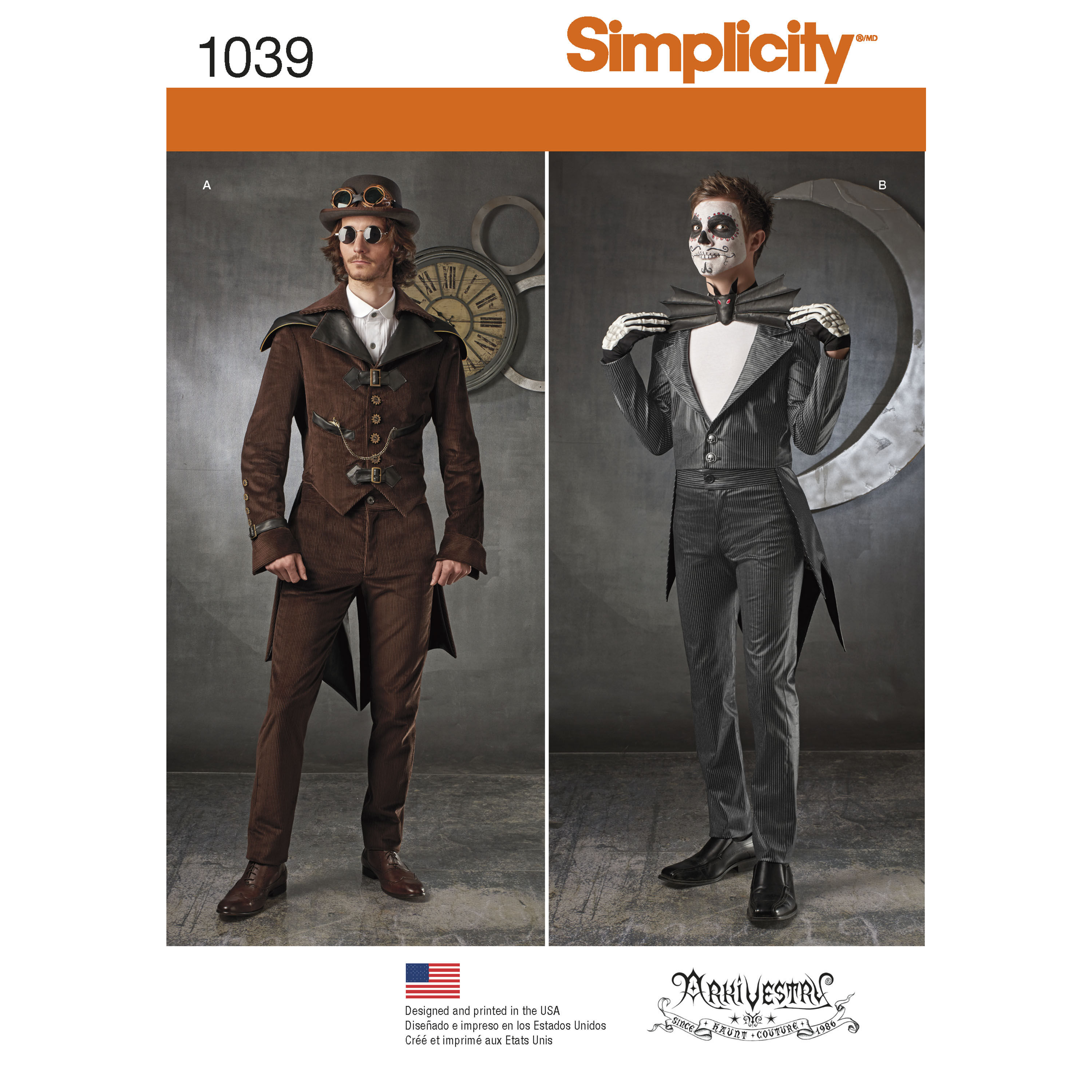 Men's Hair Kit Pattern For Men 39;s Cosplay Costumes Simplicity