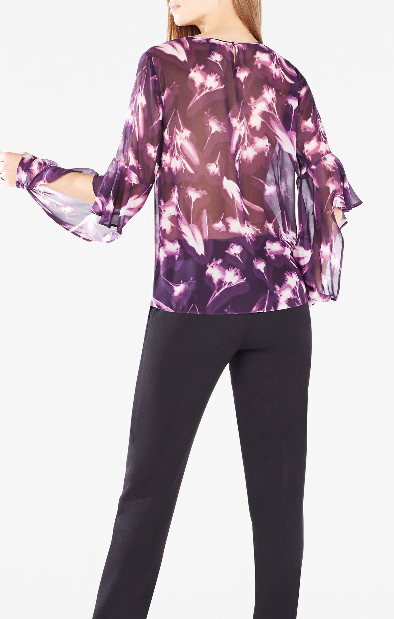 Xray Flower Prints Geremi X Ray Floral Print Top