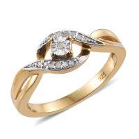 Diamond (Rnd) Bypass Promise Ring in 14K Gold Overlay ...
