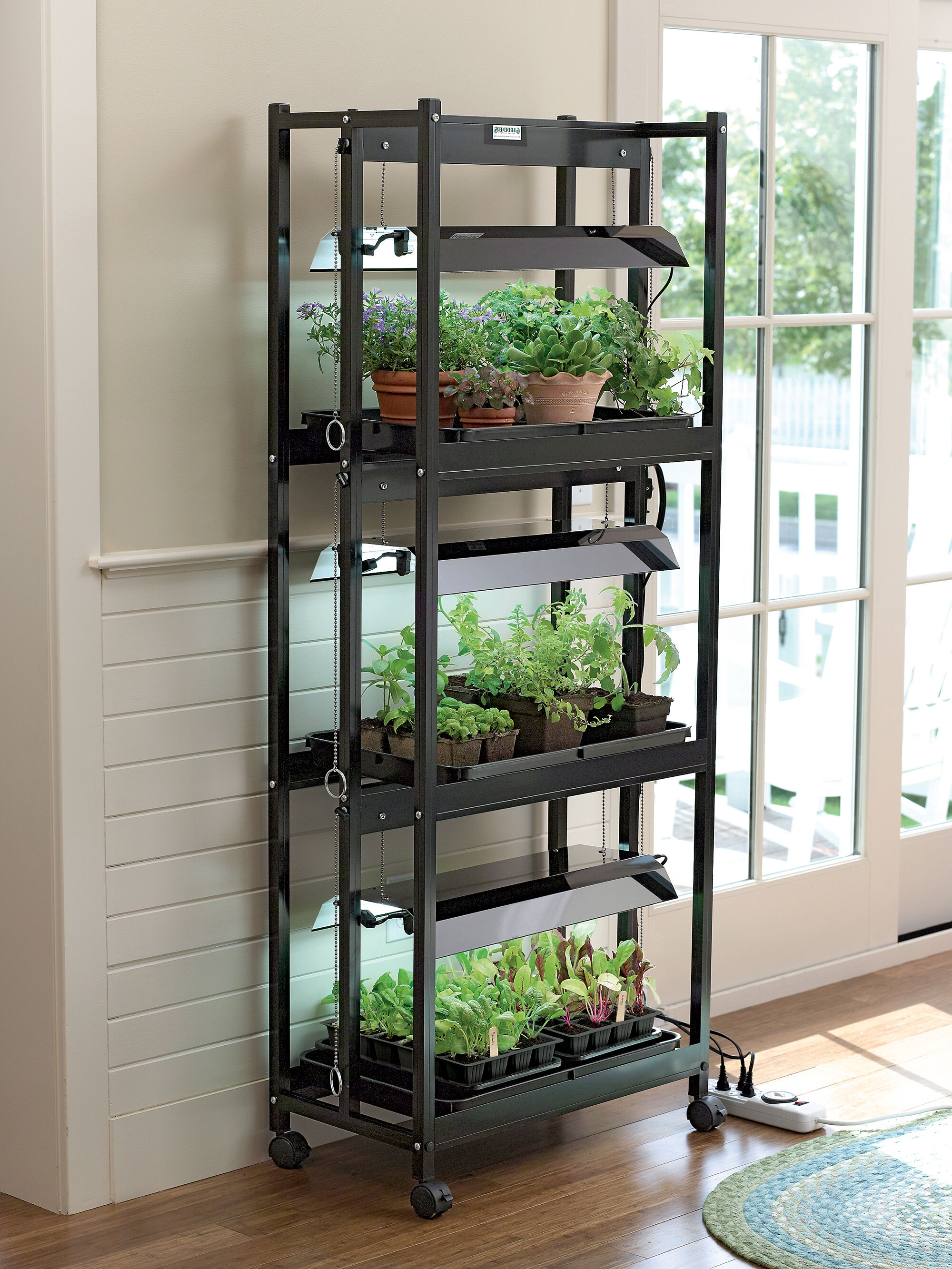 Plant Shelving Indoor Stack N Grow Light System Shelf Height Extender
