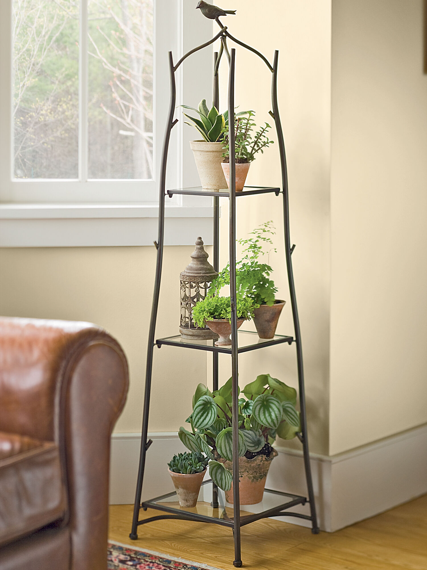 Plant Shelves Indoor A Frame Plant Stand And Tray Set Ladder Plant Stand