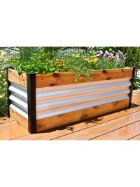 Corrugated Metal and Wood Raised Bed Garden Beds ...