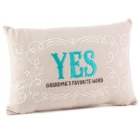 Yes/No Reversible Decorative Grandma Pillow - Decorative ...