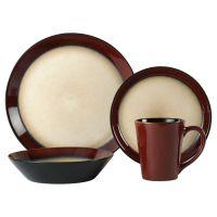 Pfaltzgraff Everyday | Aria Red 48 Piece Dinnerware Set