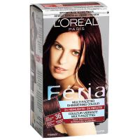 L'Oreal Feria Hair Colour - 36 Deep Burgundy Brown ...